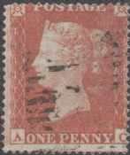 1854 1d Red SG17 Plate 169 'AC'